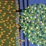 Gordon Barker. Scarecrows In Mixed Flowers, Landscape Art 5