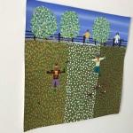 Gordon Barker. Scarecrows In Mixed Flowers, Landscape Art 6