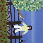 Gordon Barker. Scarecrows In Mixed Flowers, Landscape Art 7