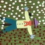 Gordon Barker. Scarecrows In Mixed Flowers, Landscape Art 8