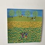Gordon Barker. Scarecrows In The Sunflowers, Landscape Art 10
