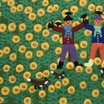 Gordon Barker. Scarecrows In The Sunflowers, Landscape Art 4