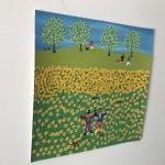Gordon Barker. Scarecrows In The Sunflowers, Landscape Art 5