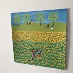 Gordon Barker. Scarecrows In The Sunflowers, Landscape Art 8
