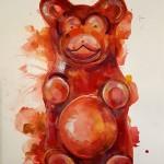 Gummy bear, Gavin Dobson, watercolour