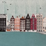 Hallo Houses, Amsterdam, 9 colour screen print, image size 35x35cm, paper size 37x38cm, edition of 50, unframed retail price £200
