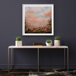 4 Sophie Berger -In Bloom – Oil on canvas – 61 x 61 cm Framed In SItu