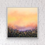6 Sophie Berger – Go Floral- Oil on canvas – 100 x 100 cm