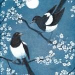 Jane Peart Moonlit Magpies