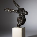 Jane Shaw All Ears Head of a Hare Bronze Animal Sculpture Wychwood Art 1