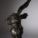 Jane Shaw All Ears Head of a Hare Bronze Animal Sculpture Wychwood Art 3