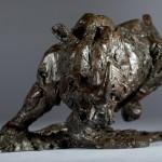 Jane Shaw Freedom Charging White Rhino Bronze Animal Sculpture Wychwood Art 8
