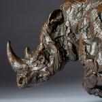 Jane Shaw Freedom Charging White Rhino Bronze Animal Sculpture Wychwood Art 9