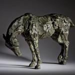 Jane Shaw Long Day Irish Hunter Horse Bronze Animal Sculpture Wychwood Art 1