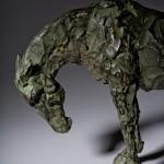 Jane Shaw Long Day Irish Hunter Horse Bronze Animal Sculpture Wychwood Art 5