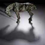 Jane Shaw Long Day Irish Hunter Horse Bronze Animal Sculpture Wychwood Art 7