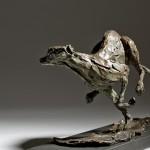 Jane Shaw Speed Racing Greyhoun Bronze Animal Sculpture Wychwood Art 3