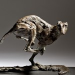 Jane Shaw Speed Racing Greyhound  Bronze Animal Sculpture Wychwood Art 2