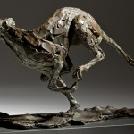 Jane Shaw Speed Racing Greyhound Bronze Animal Sculpture Wychwood Art 5
