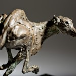 Jane Shaw Speed Racing Greyhound Bronze Animal Sculpture Wychwood Art 7