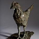 Jane Shaw Standing Proud Cockerel Bronze Resin Sculpture Wychwood Art 2