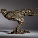 Jane Shaw Watching You A Harris Hawk Bronze Resin Sculpture Wychwood Art 1