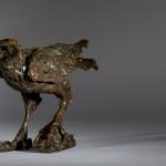 Jane Shaw Watching You A Harris Hawk Bronze Resin Sculpture Wychwood Art 2