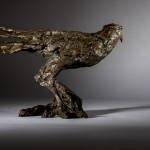 Jane Shaw Watching You A Harris Hawk Bronze Resin Sculpture Wychwood Art 3