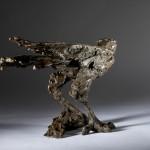 Jane Shaw Watching You A Harris Hawk Bronze Resin Sculpture Wychwood Art 4