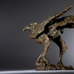 Jane Shaw Watching You A Harris Hawk Bronze Resin Sculpture Wychwood Art 6