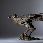 Jane Shaw Watching You A Harris Hawk Bronze Resin Sculpture Wychwood Art 8