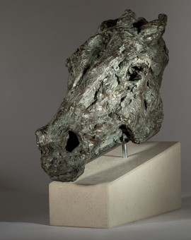 Jane Shaw Wild Head of a Horse Bronze Resin Animal Sculpture Wychwood Art 8