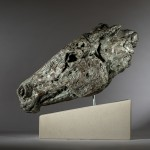 Jane Shaw Wild Head of a Horse Bronze Resin Animal Sculpture Wychwood Art 9