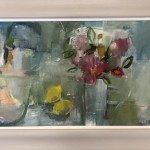 Jemma Powell, Vase and flowers with a Red Tulip