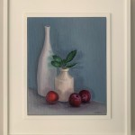 Jonquil Williamson Plums and Bay with Pots Framed Wychwood Art