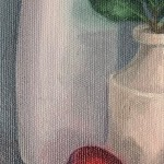 Jonquil Williamson Plums and Bay with Pots close up 2 Wychwood Art