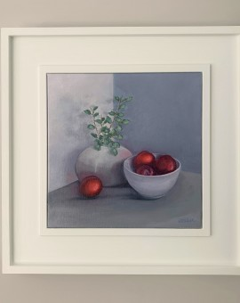 Jonquil Williamson Plums and Pittisporum Framed Wychwood Art