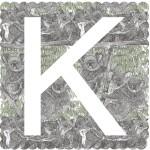 K is for Koala, 3 colour sceren print, image size 35x35cm, paper size 37x38cm, ediiton of 100, unframed retail price £70