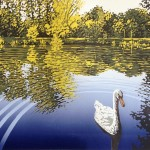 Lake View with Swan – Alexandra Buckle