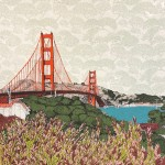 Leafing San Francisco, 8 colour screen print, image size 35x35cm, paper size 37x38cm, edition of 75, unframed retail price £250