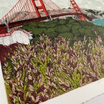 Leafing San Francisco Bay, California, Clare Halifax, close up 1