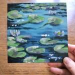 Lily Pond study 1 scale