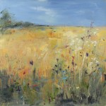 Lower field with Thistles 2, Libbi Gooch