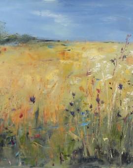 Lower field with Thistles 2, Libbi Gooch