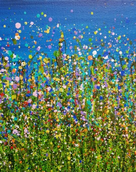 Lucy_Moore_Midnight_Meadow_Flourish_#3_Original_Landscape_Painting