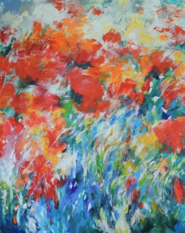 Mary Chaplin oriental poppies in the summer wind Wychwood Art