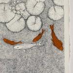 Orange Fishy, Water Lily, Clare Halifax 2