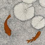 Orange Fishy, Water Lily, Clare Halifax 4