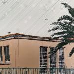 Pink House and Palm, La Palme, clare halfiax 4