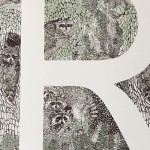 R-is-for-Raccoon-3-colour-screen-print-image-size-35x35cm-paper-sixze-37x38cm-eidtion-of-100-unframed-retail-price-£70 copy 2